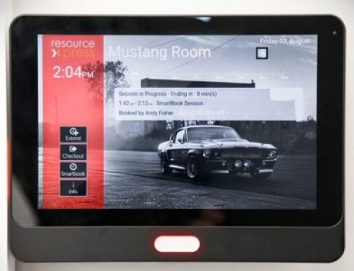 There are many imitations but there's only one ResourceXpress Aura Meeting Room-screen!